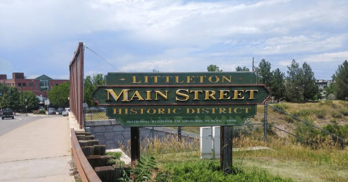 main street sign littleton co