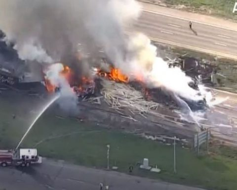 fiery car crash on I-70 in denver