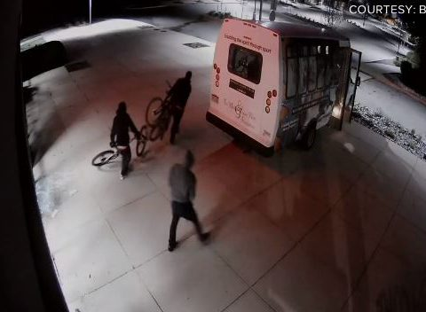 smash and grab robbery at Bikesource in Littleton