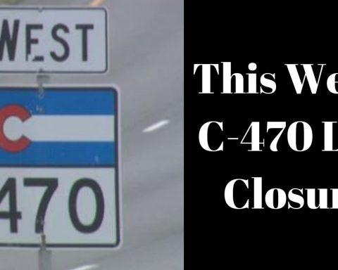C-470 highway sign colorado